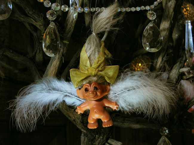 'On the first day of Christmas, my True Love gave to me, a Troll Angel in a Crystal Tree'. Quirky Christmas Christmas Christmas Tree MerryChristmas Christmas Around The World 12 Days Of Christmas Christmas Ornament Trolls Vintage Troll Troll Angel In A Crystal Tree awehaven
