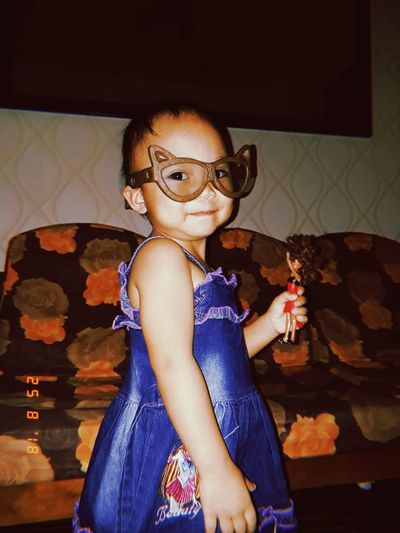 #littlesister #2yearsold #barbie #cuteface 💕 Child Full Length Sitting