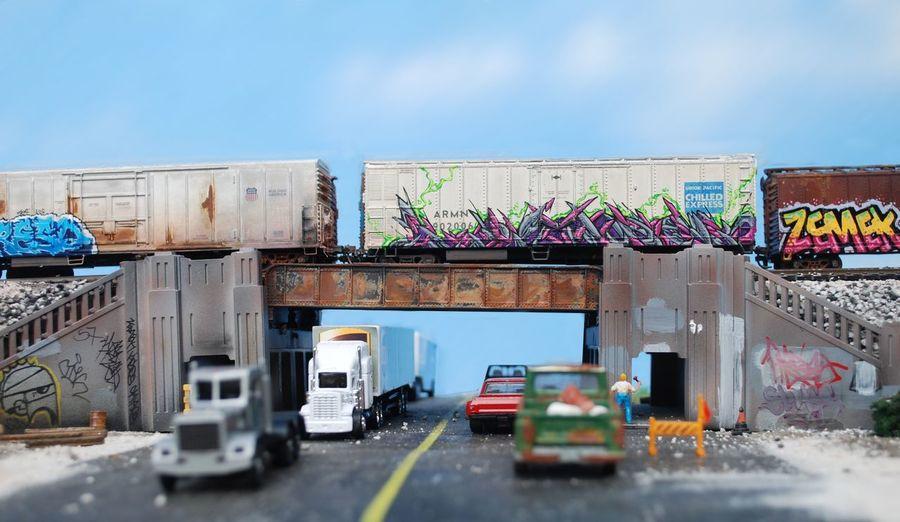 HO Scale Modeling, Ho Train Graffiti, Scene, Toycommunity Toycrewbuddies Toyoutsiders