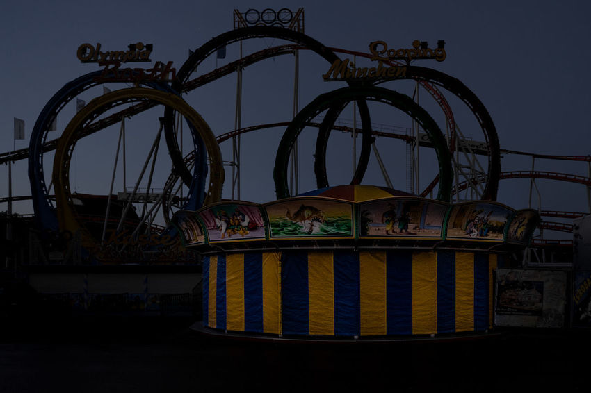 Forgotten Projects Oktoberfest Wiesn Amusement Park Animal Themes Architecture Building Exterior Built Structure Day Low Angle View Mammal Nature No People Outdoors Sky
