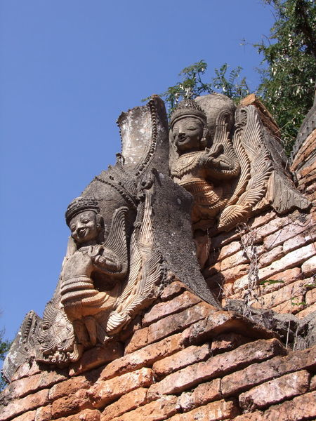 Stucco Work on Ancient Stupa (11th to 13th century) Ancient Stupa Blue Sky Buddhist Architecture Buddhist Art Buddhist Culture Buddhist Stupa Composition Creativity Deities Full Frame Human Representation Inle Lake Kakku Myanmar Outdoor Photography Place Of Worship Religion Shan State Stucco Sunlight Tourism Tourist Attraction  Tourist Destination Tree