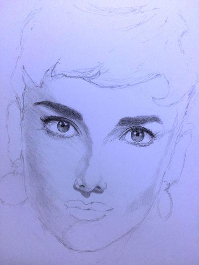 Audrey Hepburn Art, Drawing, Creativity MyDrawing Drawing ArtWork Hello World オードリー オードリーヘップバーン