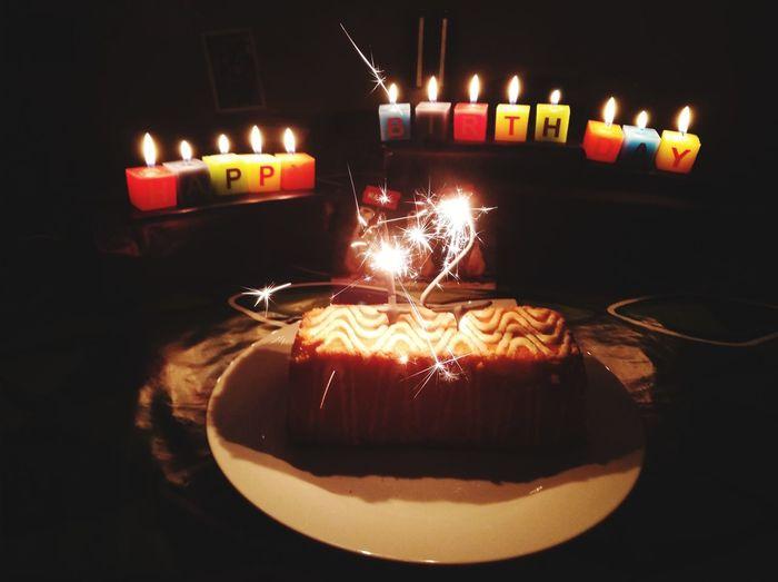 Candle Flame Burning Celebration Birthday Cake Birthday Candles Cake Birthday Sweet Food