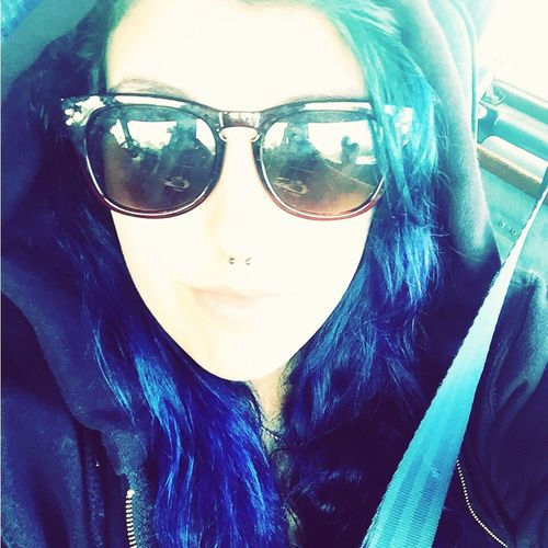 It's just me myself and I Me Myself And I Blue Hair
