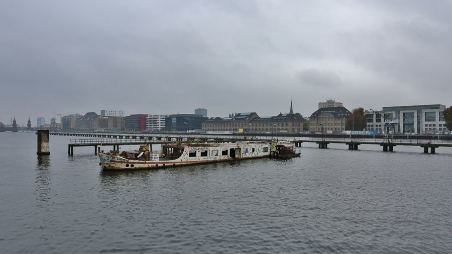 Friedrichshain Schiff Spree Trzoska Architecture Building Exterior Built Structure City Cityscape Day Mode Of Transport Nautical Vessel No People Outdoors River Sky Transportation Treptow Water Waterfront