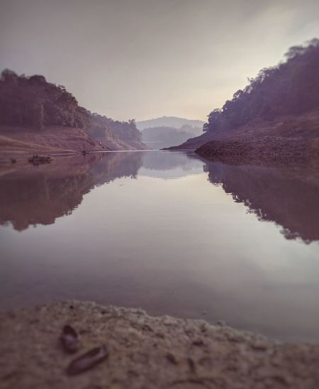 Landscape Water Reflection Nature Sky Beauty In Nature Cloud - Sky No People Scenics Lake