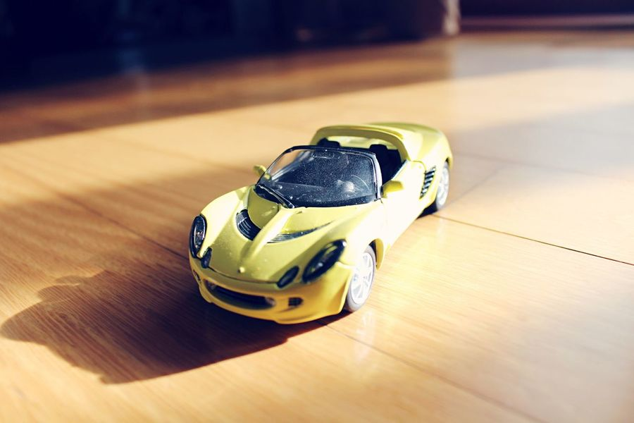TOY Plamodel Miniature Viper  Toy Car Yellow Wood - Material Indoors  Day