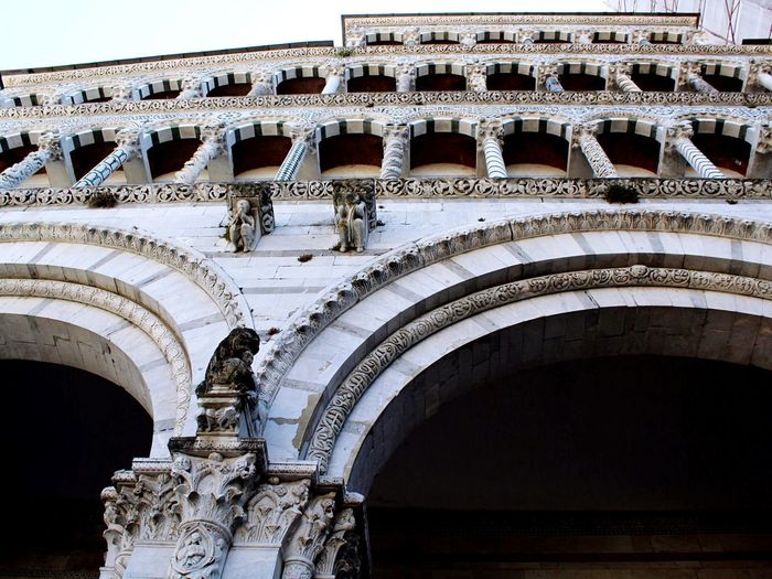 Italy Lucca Lucca Italy Architecture_collection Church Church Architecture Architecture Built Structure Building Exterior History Arch The Past Travel Destinations Low Angle View No People Day Tourism Building Travel Architectural Column Outdoors