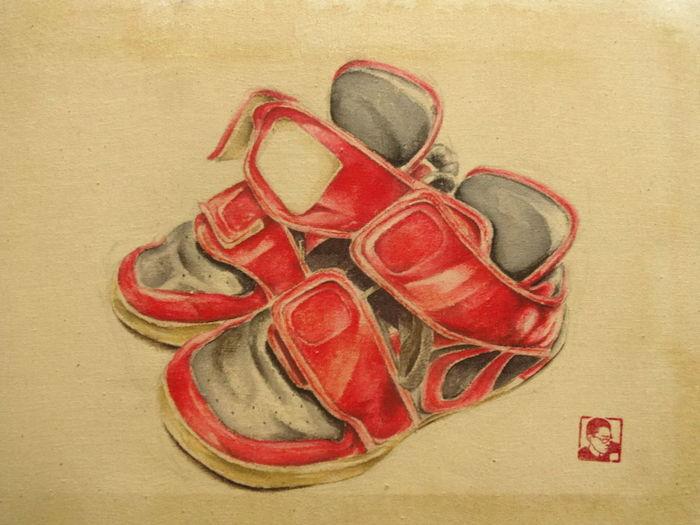 Shoes Paint Koreanpainting Picture Esedy