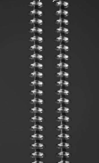 High angle view of spiral over black background