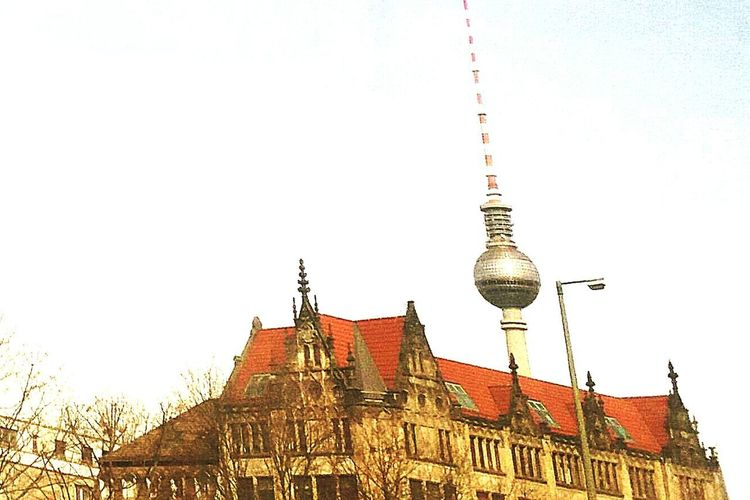 Neighborhood Map Old and new Berlin Architecture Travel Destinations Tower Spire  Building Exterior Built Structure Travel Tourism Television Tower City Television Tower - Berlin Television Tower In Berlin And Old Building Old And New Architecture Old And New Architecture In Berlin