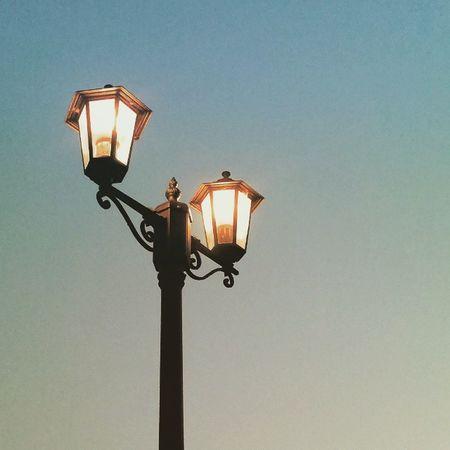 Streetlight Summersky Evening Nightfall Bayofkotor