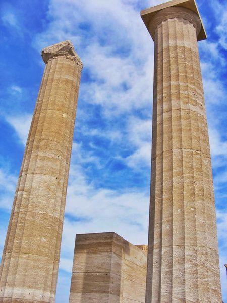 Ancient Ruins Rhodes Columns Just Adding Old Pics