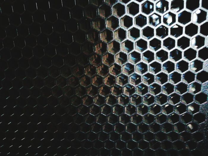 The cells Honeycomb Backgrounds Full Frame Pattern Textured  Close-up Hexagon
