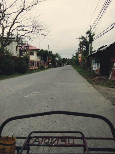 Gloomy Day Gloomy Weather Transportation Sky Cable Road Outdoors The Way Forward Day No People Tree