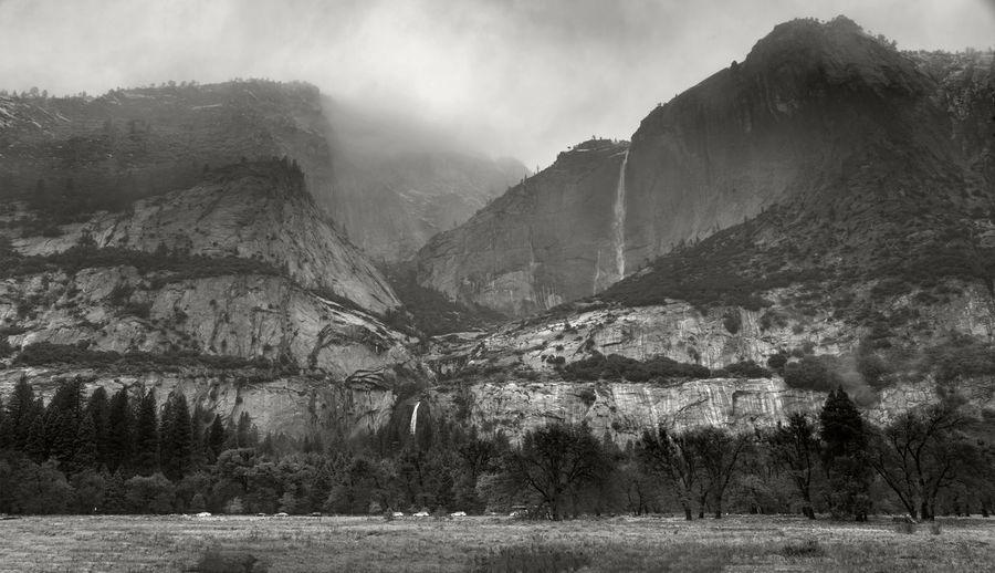 Yosemite national park, California winter background Mountain Scenics - Nature Environment Beauty In Nature Plant Tree Tranquil Scene Landscape No People Land Nature Tranquility Non-urban Scene Day Mountain Range Sky Remote Travel Destinations Outdoors Formation Yosemite National Park Yosemite Winter Background Falls Colors