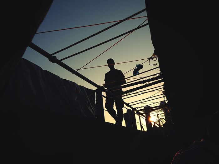 walking on a Starboard Starboard Silhouette XperienceXZ1 Xperiaphotography XPERIA Sonyxperia Sony EyeEm Ig Philippines Sulu JOLO Geometry Shadows Headwear Working Men Standing Occupation Full Length Hardhat  Manual Worker Silhouette Oil Pump