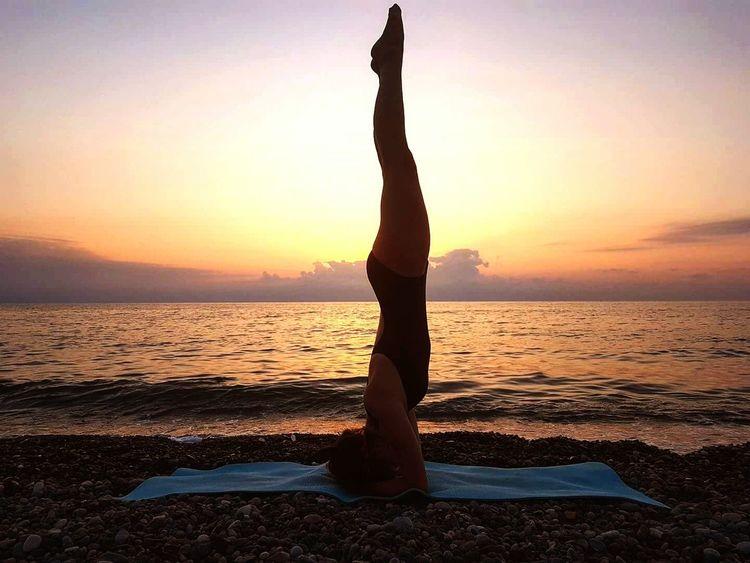 Yoga Ashtangayoga Beach Sunset