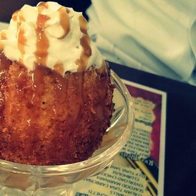 Indulgence with the fried ice cream. 😍😁👌👍 Tastebuds Lateafternooninsanity Gastronomía