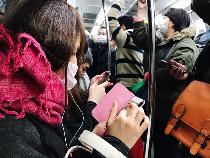 Riding The Train Public Transportation Crowded Train Tokyo Transportation Real People