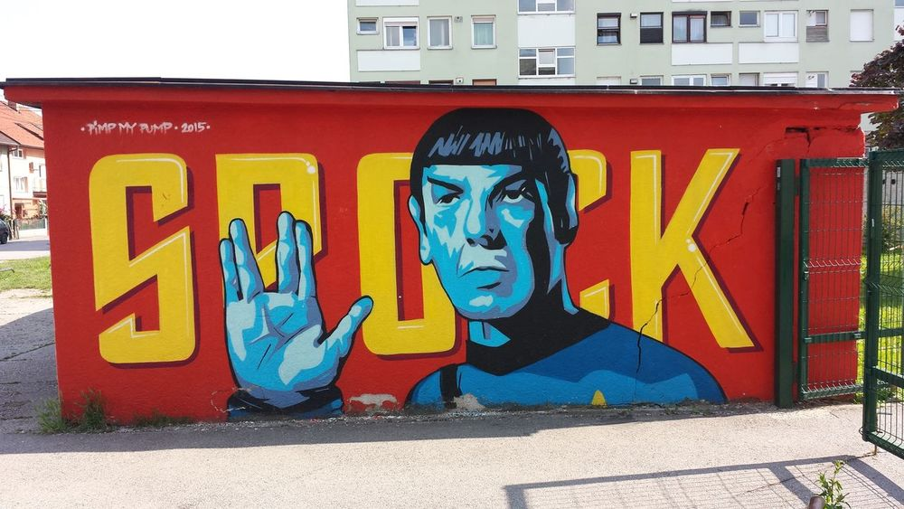 Colors Outdoors Spock Fingers Star Trek
