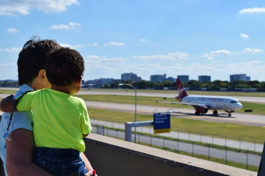 Airplane Airport Cityscapes Dallas Entertainment Kids Selective Focus Skyline