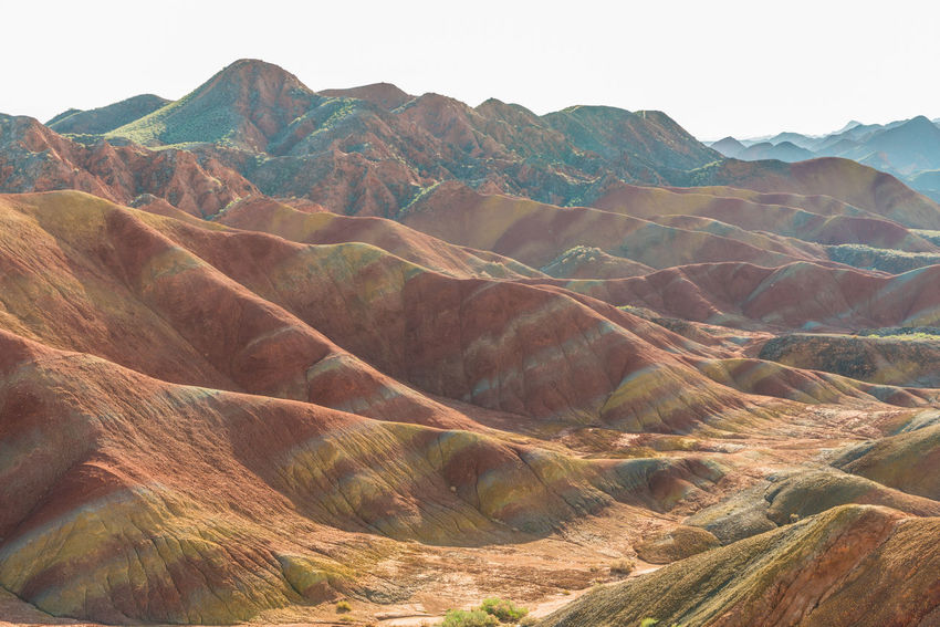 Colourful layers in the desert. Zhangye Danxia Landform, Gansu, China Arid Climate China Colour Day Desert Gansu Geological Formation Landscape Mountain Natural Beauty Nature Orange Color Outdoors Pattern Physical Geography Red Remote Rock Formation Travel Travel Destinations Travelling Zhangyedanxialandform High Resolution