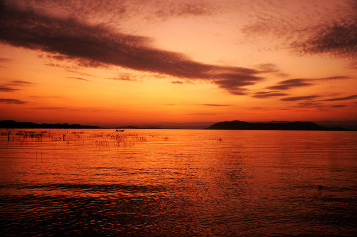 Kenya Lake Baringo Africa Beauty In Nature Cloud - Sky Dramatic Sky Idyllic Non-urban Scene Orange Color Romantic Sky Scenics - Nature Sky Sunset Tranquil Scene Tranquility Water