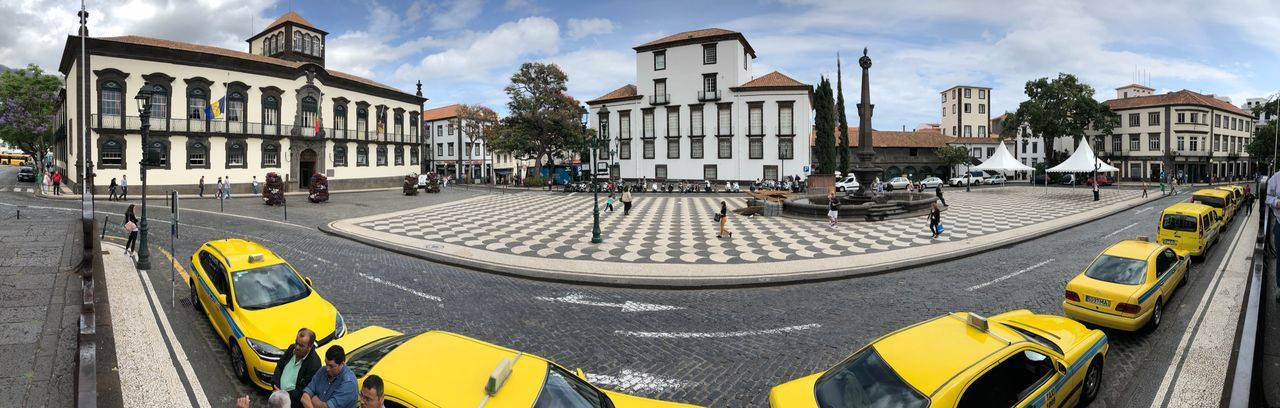 Waiting For Customers Waiting For Clients Market Place Madeira Islands, Portugal Cab Taxi Architecture City Transportation Mode Of Transportation Building Exterior Street Built Structure Motor Vehicle Car Yellow City Life City Street