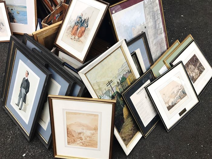EyeEm Selects Photograph Picture Frame Photo Album Photography Themes High Angle View No People Directly Above Old-fashioned Day Reminder Outdoors London Car Boot Sale