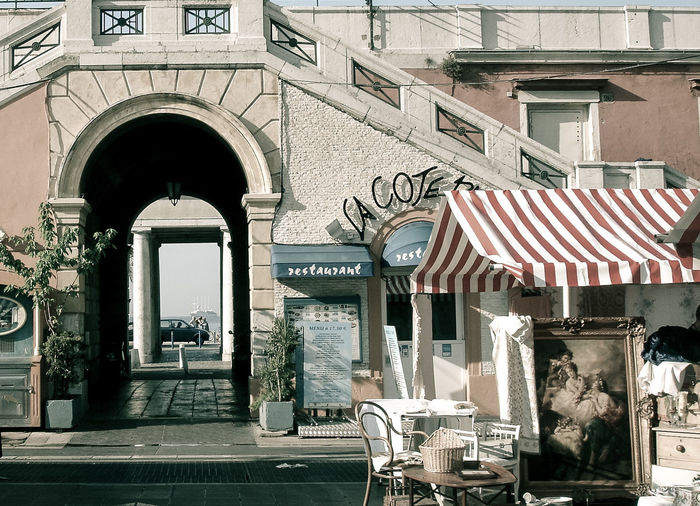 A Street In Nice Arch Architecture Building Exterior Built Structure City Day France Nice No People Outdoors Transportation