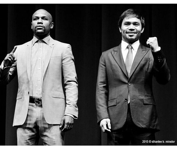 Popular Photos Bestphoto Boxing Pacman MayweatherPacquiao