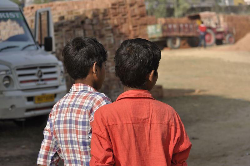 Children Enfants Groupe Inde Pays Peuple Portrait Voyage