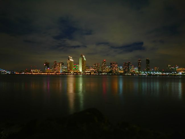 San Diego, night Skyscraper Urban Skyline Architecture Night Downtown District Illuminated Waterfront City