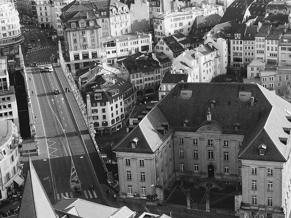 Lausanne Cathédrale De Lausanne Lausanne (CH) November Greyscale Bridge School