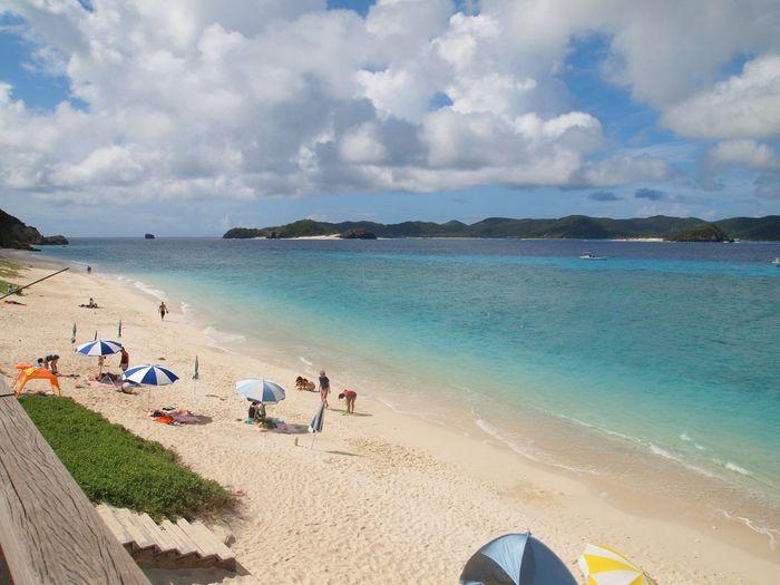 沖縄県 ( Okinawa )の 阿嘉島 ( Akajima  )の 北浜 ( Nishihama )ビーチです
