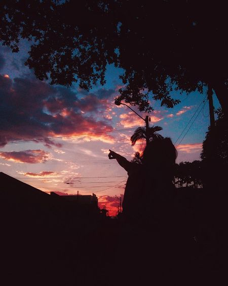 Sunset Kids Silhouette Cellphone Photography Love Nature Colors Sky Nature