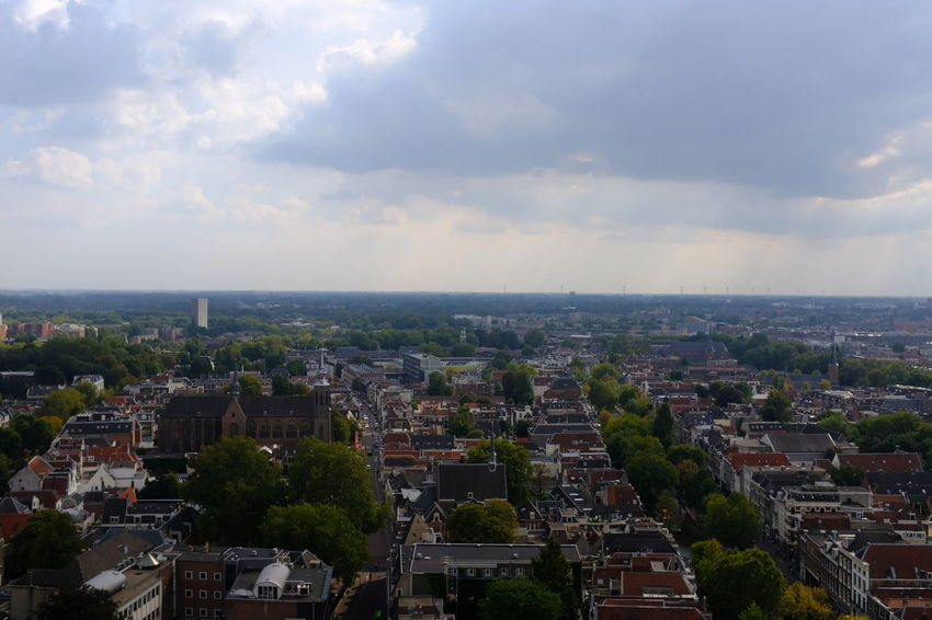 Dom Tower Dom Toren Architecture Building Building Exterior Built Structure City Cityscape Cloud - Sky Day Environment High Angle View Horizon Landscape Nature No People Outdoors Residential District Sky TOWNSCAPE Tree