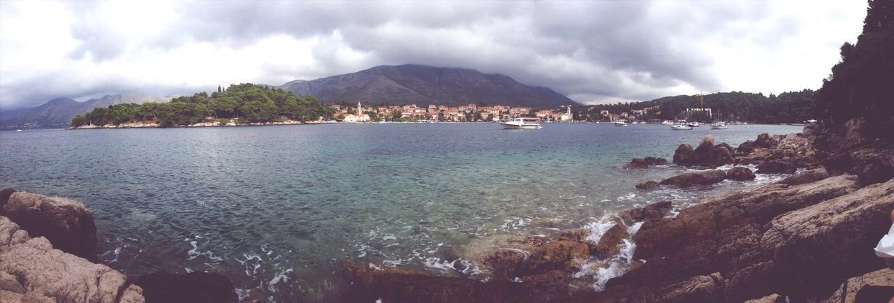 A view of Cavtat. I was there a few months ago, this is the first panoramic photo I ever took. Panorama Scenery View Great Views
