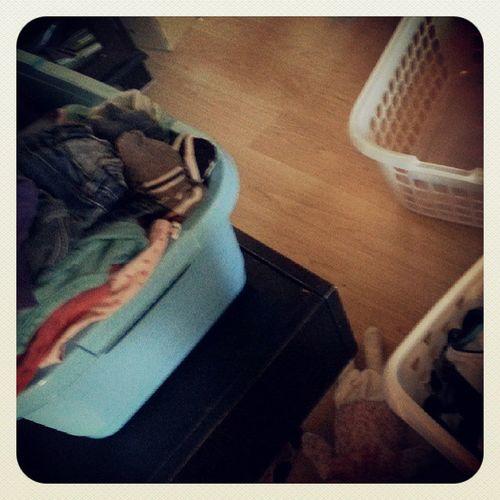 Danach zu Hause weiter... Hausarbeit Wäsche Auchmithilfe