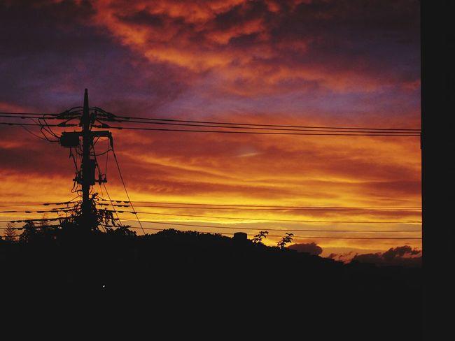 sunset like flame Pentax QS1 Japan