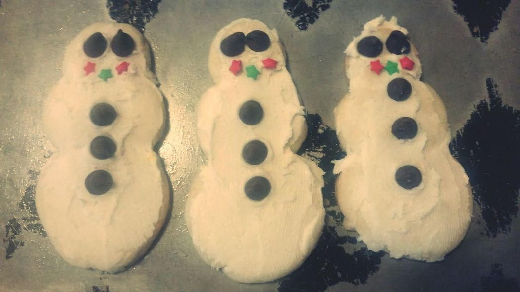 Christmas cookies Snowman⛄ SugarCookies Christmas Time Let It Snow