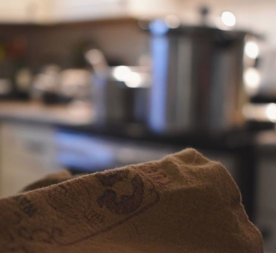 Bokeh Nikon Kitchen Focus On Foreground Close-up Indoors  No People Day Pan Stove Cooking Towel Ambiance Pots And Pans
