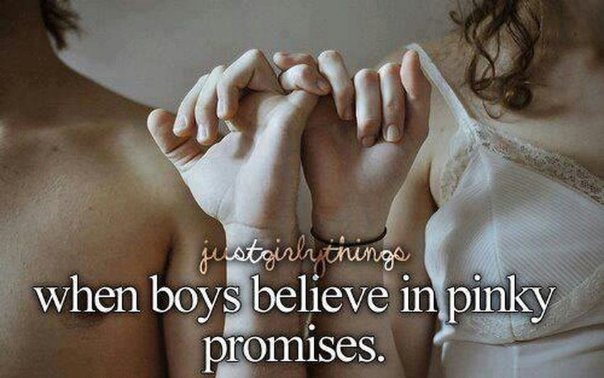 Me amd my baby always pinky promise