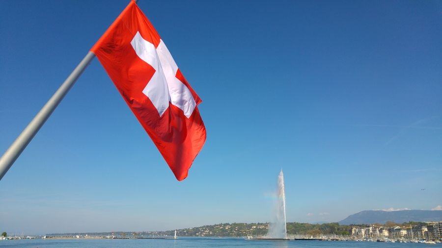 Jet d'Eau Beautiful Clear Sky Geneve Love Precious Travel Waterscape Amazing Day Destination Different Europe Flag Great Incredible Lake Landscape Mountain River Swiss Switzerland Water Waterfront Be Brave Summer In The City EyeEmNewHere
