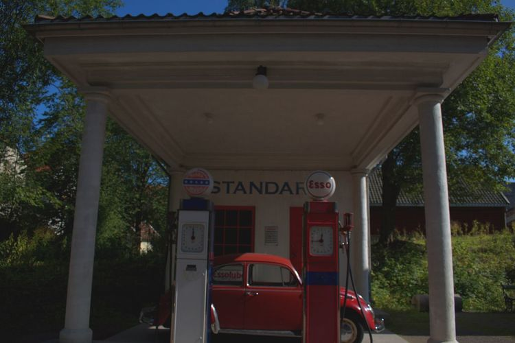 Ezo Wood Car Gass Station Old Old Building  Old Buildings Petrol Station