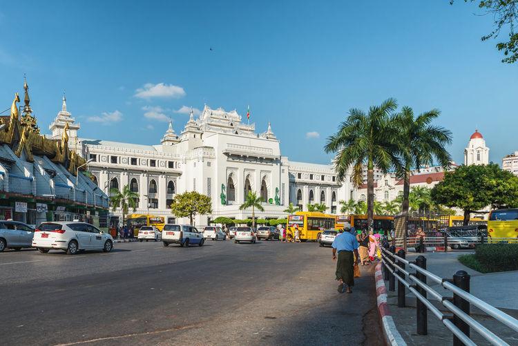 View of yangon city hall at myanmar