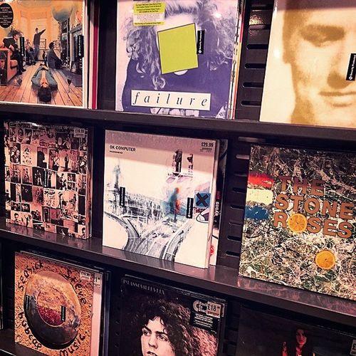 Some great albums on the shelf in HMV Stevenage.. Music Albums Hmv Vinyl LP RollingStones Radiohead TheSmiths Oasis StoneRoses AmyWinehouse