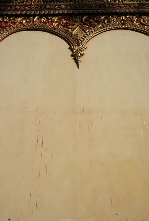 Wall Art Temple Wall Laos Details Textures And Shapes