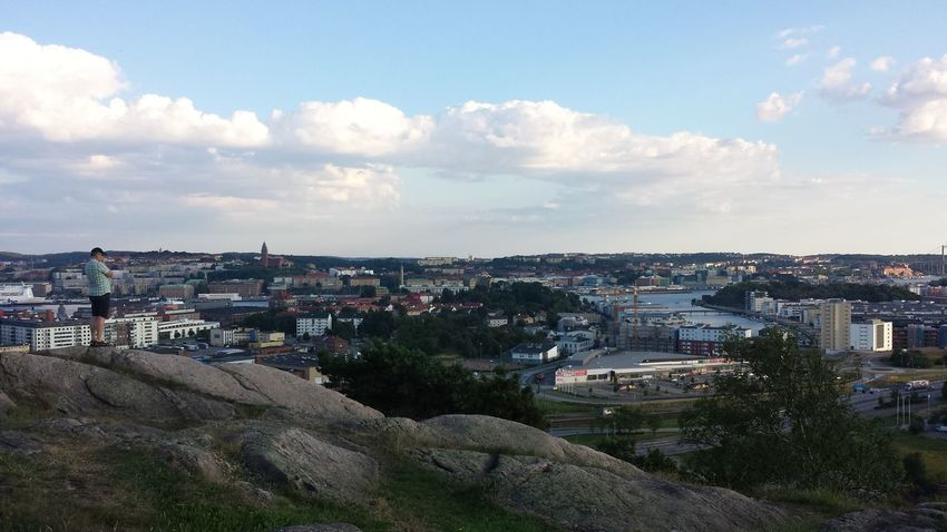 View over Göteborg a warm July evening around 9 pm Summer View Göteborg, Sweden Ramberget